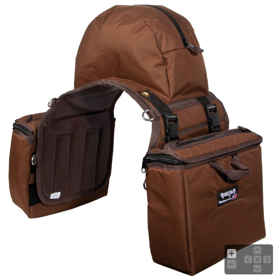 Equi Tech Insulated Large Detachable Saddle Bags With Cantle Bag Color Choices View Images