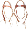 Amish made lined heavy duty Old Tyme Snap Crown Mule Browband Headstall - Color Choice - Concho Options