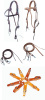 "Amish made lined Snap Crown Browband Headstall - 5/8""  8' Split Reins &   1 Pair of Buckle to Bit Slobber Straps -Color Choices"