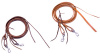 "Amish made 5/8"" - 8' Split Reins with water tie ends & removable snaps - Color Choices"