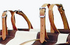 Leather Pannier Top Straps - One Pair TWO Straps