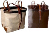 Donkey - Smaller Sized Utah Pack Bags with Leather Straps -Canvas or Iron Weave