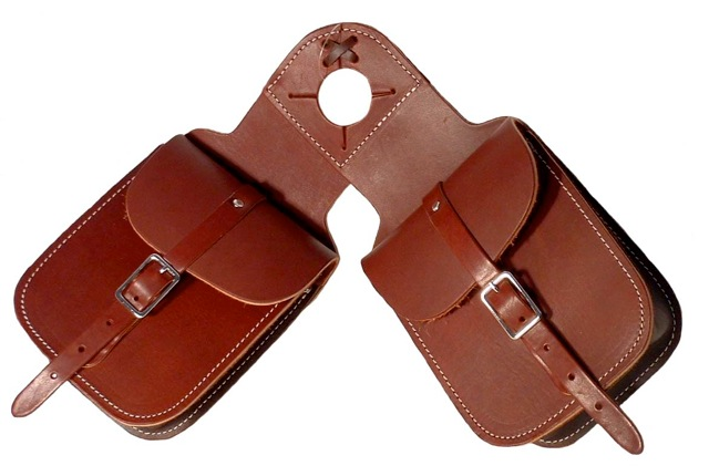 Pommel Bags -Horn Bags-Latigo Leather