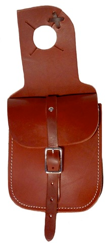 Single Pommel Bag -Horn Bag- Chap Leather