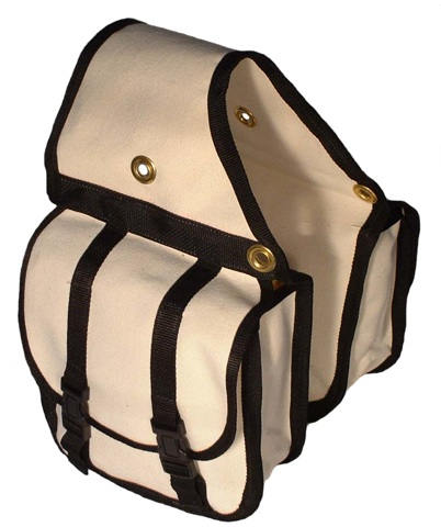 Canvas Saddle Bags - Web reinforced-Choose Size Medium or Large Same Price