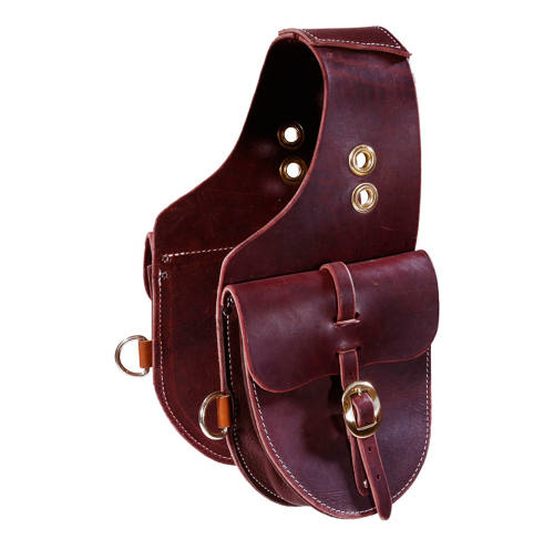 Small Burgundy Latigo Leather Saddle Bags