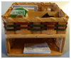 Amish Made Wicker Desk Organizer