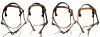 Amish made Mule lined Snap Crown Browband Headstall with Tassels- Color Choices -Concho Option