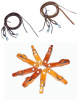 "Amish made  5/8"" - 8' Split Reins with water tie ends & removable SS snaps - & 1 pr. of Amish Slobber Straps Combo-Color Choices"