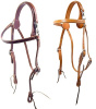 Handmade Amish Un-Lined Snap Crown Browband Headstall Mules & Horses - 4  Light Russet Avilable