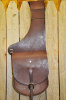 K Bar J Large Skirting Leather Saddle Bags-Dark Brown